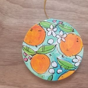Ornament Hand Painted Oranges